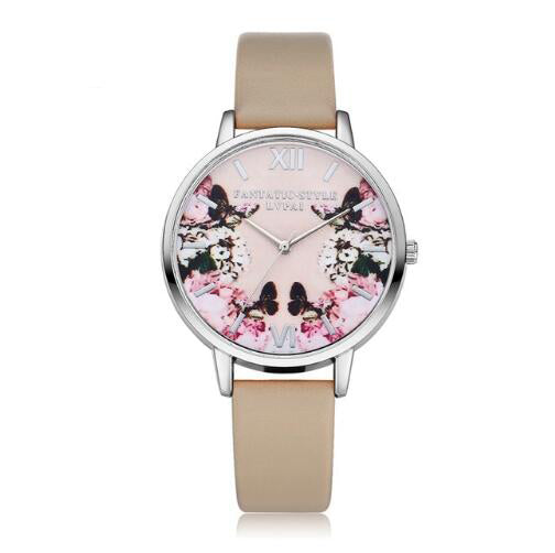 Beautiful Floral with Butterflies Watch