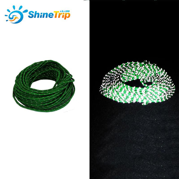 Shine trip 2.5mm Reflective Paracord Tent wind rope multifunctional Bold  fixed  Reflective clothesline Multipurpose  50 Feet