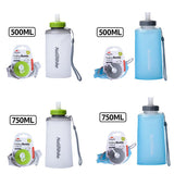 Naturehike Portable Silicone Folding Water Bag Sport Camping Outdoor Cup Drinkware With Straw Kettle Travel Bottles