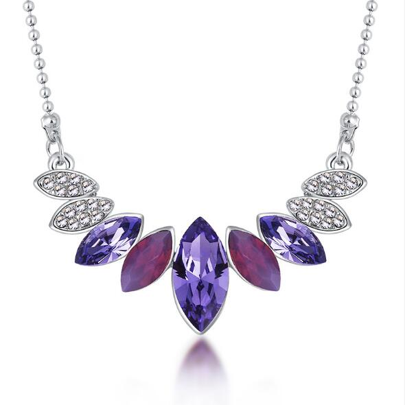 Austrian element Crystal Necklace Earrings Jewelry Sets
