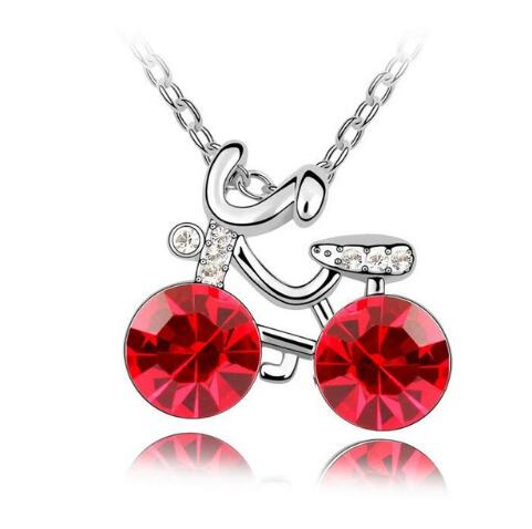 Bike/Cycling Crystal Pendent Necklace