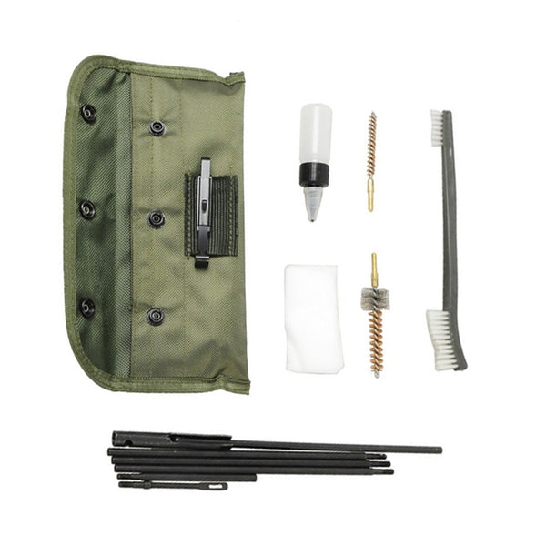 M4, M16, AR-15 Rifle Gun Cleaning Kit 10 Pieces .22 .30cal 5.56mm Brushes Set
