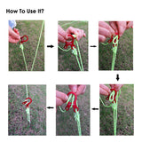 ShineTrip 5 pcs/lot Camping Tent Cord Rope Fastener Guy Line Runner Carabiner Hook Hanger Tightener