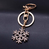 Golden Snowflake Key Chain