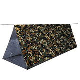 Jungle Camouflage Emergency Tent w/ Golden Emergency Blanket