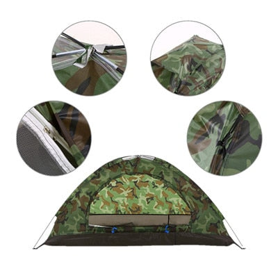 Outlive America 1-2 Person Double Layer Camouflage Tent