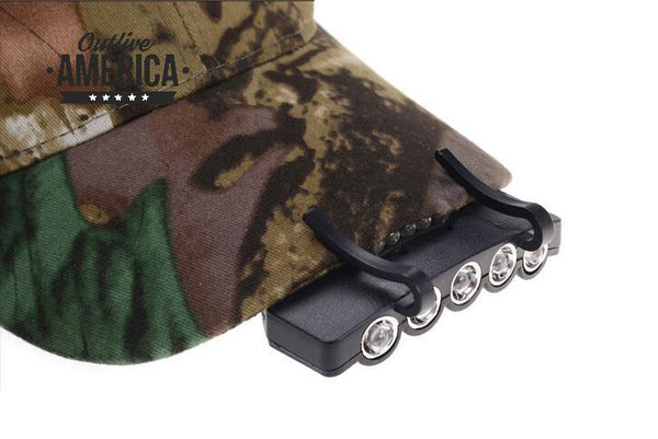 Ultra Bright LED Head Lamp Hat Clip