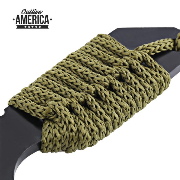 Outlive America Survivor Tanto Knife with Fire Starter