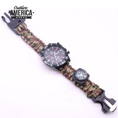 Military Paracord Survival Bracelet 6 In 1