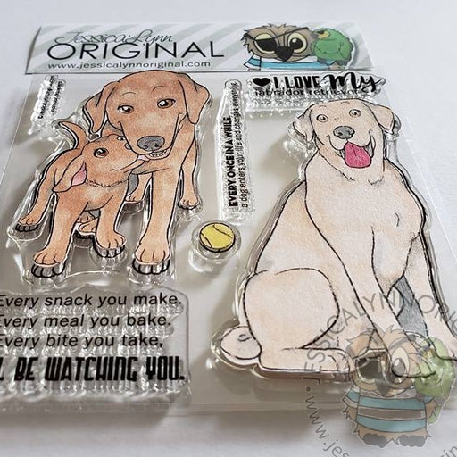 Labrador Retriever Lab 4x4 Clear Photopolymer Stamp Set