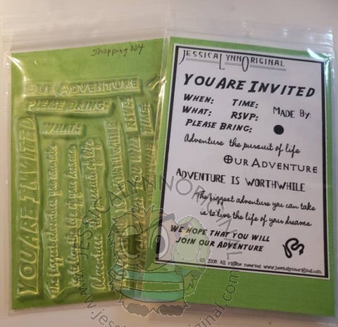 Clearance: Invitation Sentiments Adventure Indiana Jones Clear Photopolymer Stamp Set
