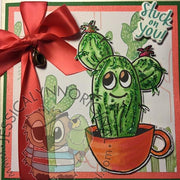 Instant Download -  Happy Cactus in Coffee Cup ©JessicaLynnOriginal Digital Stamp