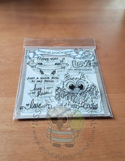 Happy Valentine's Day  I Love You Featuring Brentwood Owl© Clear Photopolymer Stamp Set