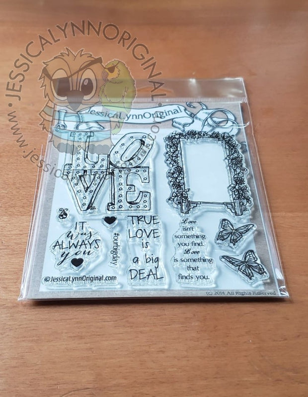 True Love | It was always You Love is big deal Butterflies 4x4 Photopolymer Stamp Set Sentiments