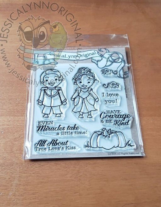 Cinderella Miracles take Time Kids in Costumes Clear 4x4 Photopolymer Stamp Set