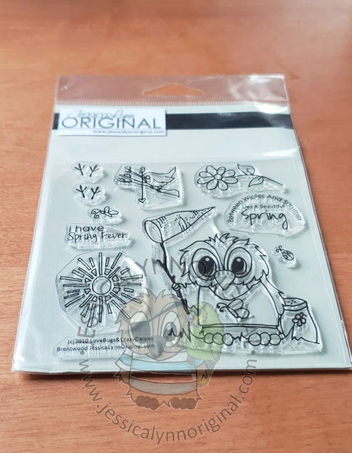 Brentwood Owl© Springtime Butterfly Summer 4x4 Clear Photopolymer Stamp Set
