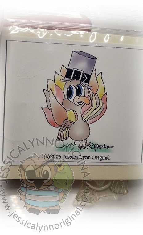 Clearance: Happy Thanksgiving Turkey with Hat Clear Photopolymer Stamp Set