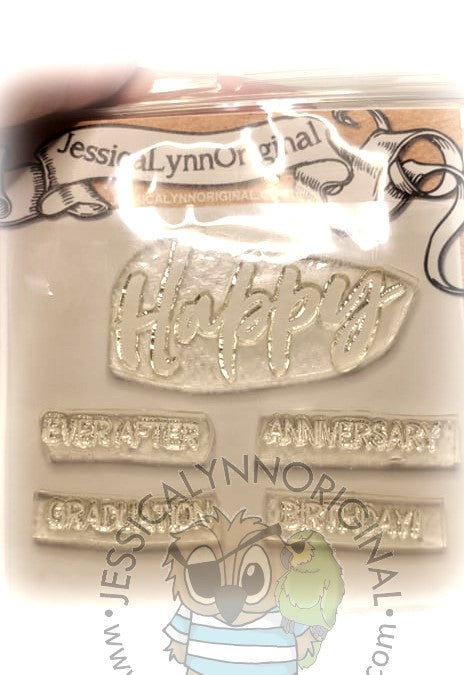 Clearance: Happy Ever After Graduation Anniversary Birthday Clear Photopolymer Stamp Set