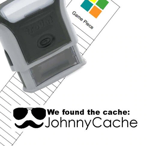 Geocaching Custom Rubber Stamp - Rectangle