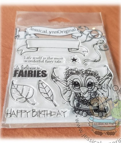 Brentwood Owl Once Upon a Fairy Tale Fairies Banner 4x4 Clear Photopolymer Stamp Set