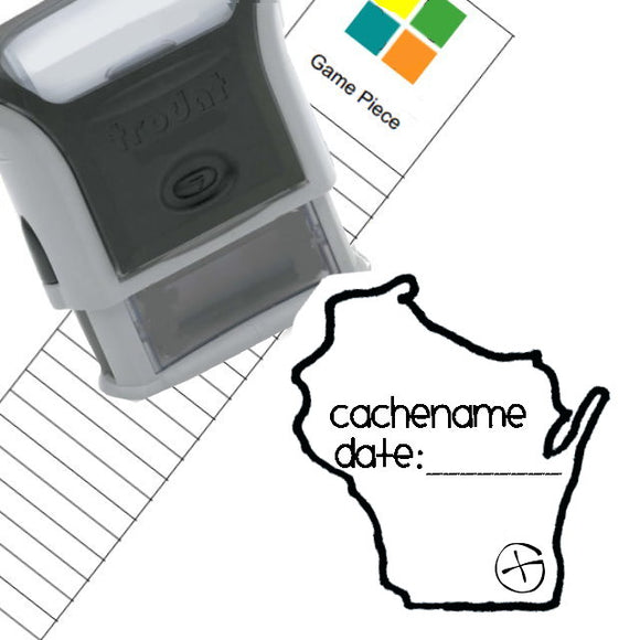 Geocaching Custom Rubber Stamp - Your State