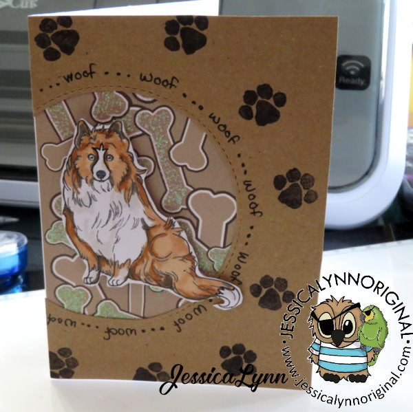 Shetland Sheepdog Lovin' Sheltie Puppy 4x4 Photopolymer Stamp Set
