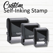 Custom Rubber Stamp | Customized Personalized | Self Inking Choose Ink Color