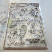 Italian Greyhound AKC Dog  4x6 Clear Photopolymer Stamp Set