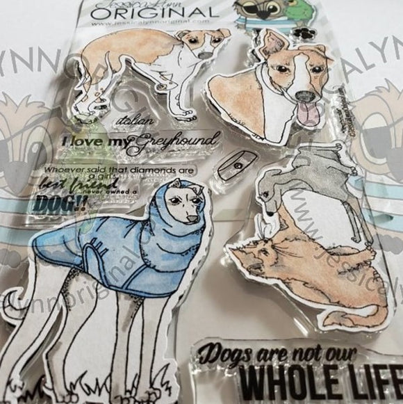 AKC Dog Italian Greyhound  4x6 Clear Photopolymer Stamp Set
