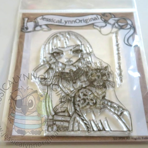 Jasmine Becket-Griffith Sanura XL Egyptian Cat 4x4 Clear Photopolymer Stamp Set