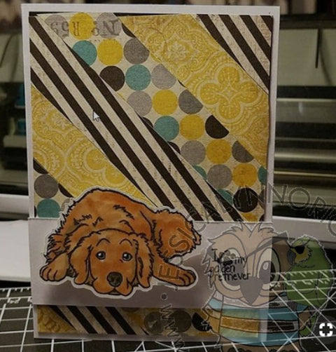 Golden Retriever Sentiments AKC Dog Puppy 4x6 Clear Photopolymer Stamp Set