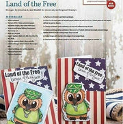 Brentwood Owl© Home of the Brave Military  Clear Photopolymer Stamp Set 4x4 Clear Photopolymer Stamp Set