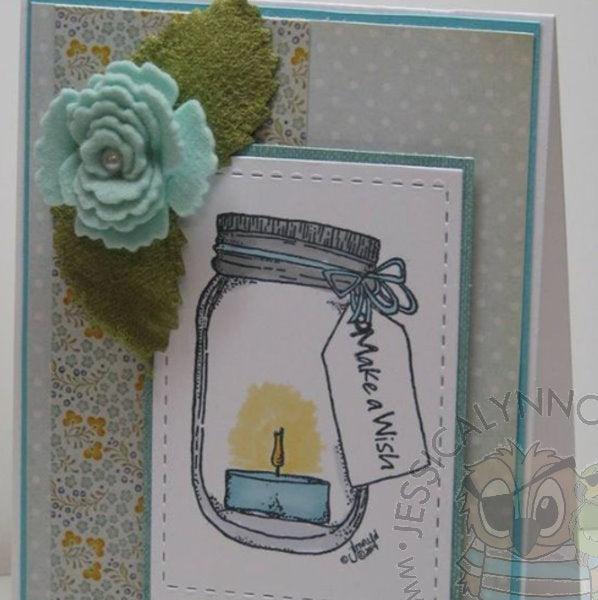 Mason Jar DIY Crafting for Wedding Business Clear Photopolymer Stamp Set