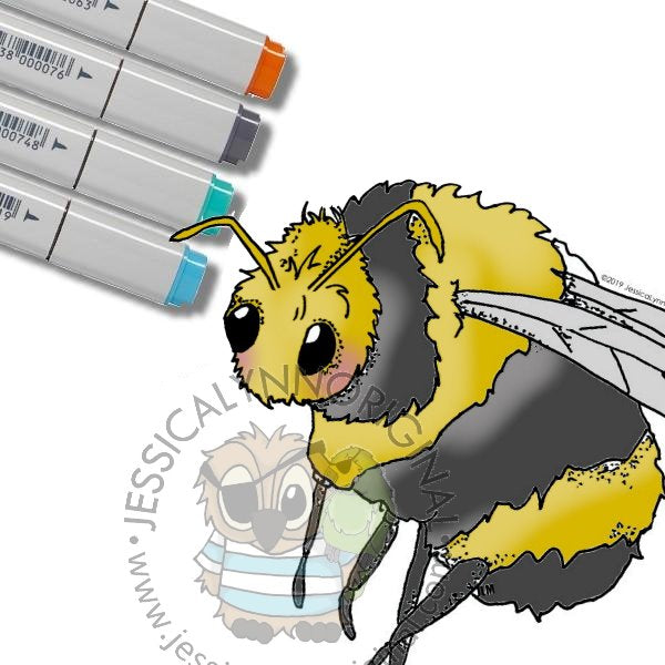 Instant Download - Bumble Bee JessicaLynnOriginal Digital Stamp