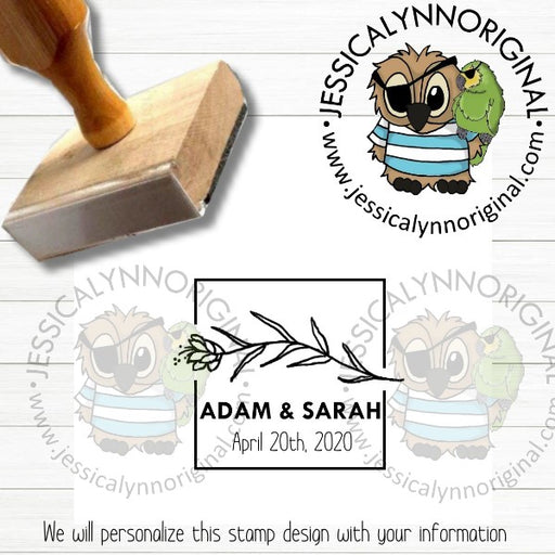 Personalized Rubber Stamp | Custom Stamps | Wedding Save The Date Favors Inspired | JLO1501