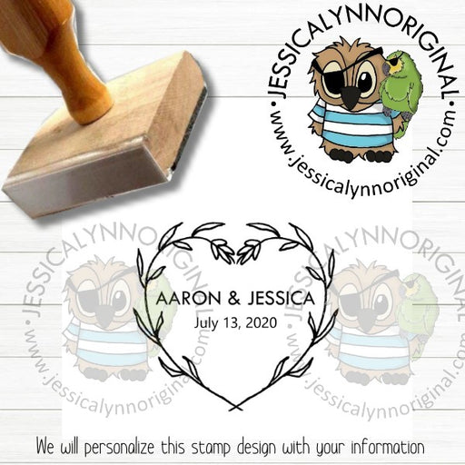 Personalized Rubber Stamp | Custom Stamps | Wedding Save The Date Favors Inspired | JLO1500
