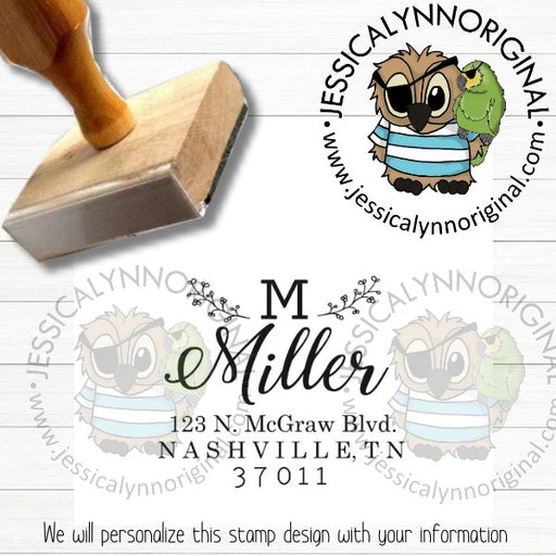 Personalized Rubber Stamp | Custom Stamps | Wedding Return Address Inspired | JLO1501a