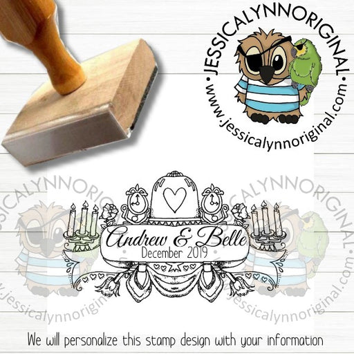 Personalization Rubber Stamp | Custom Stamps | Beauty and Beast Belle Inspired | JLO327