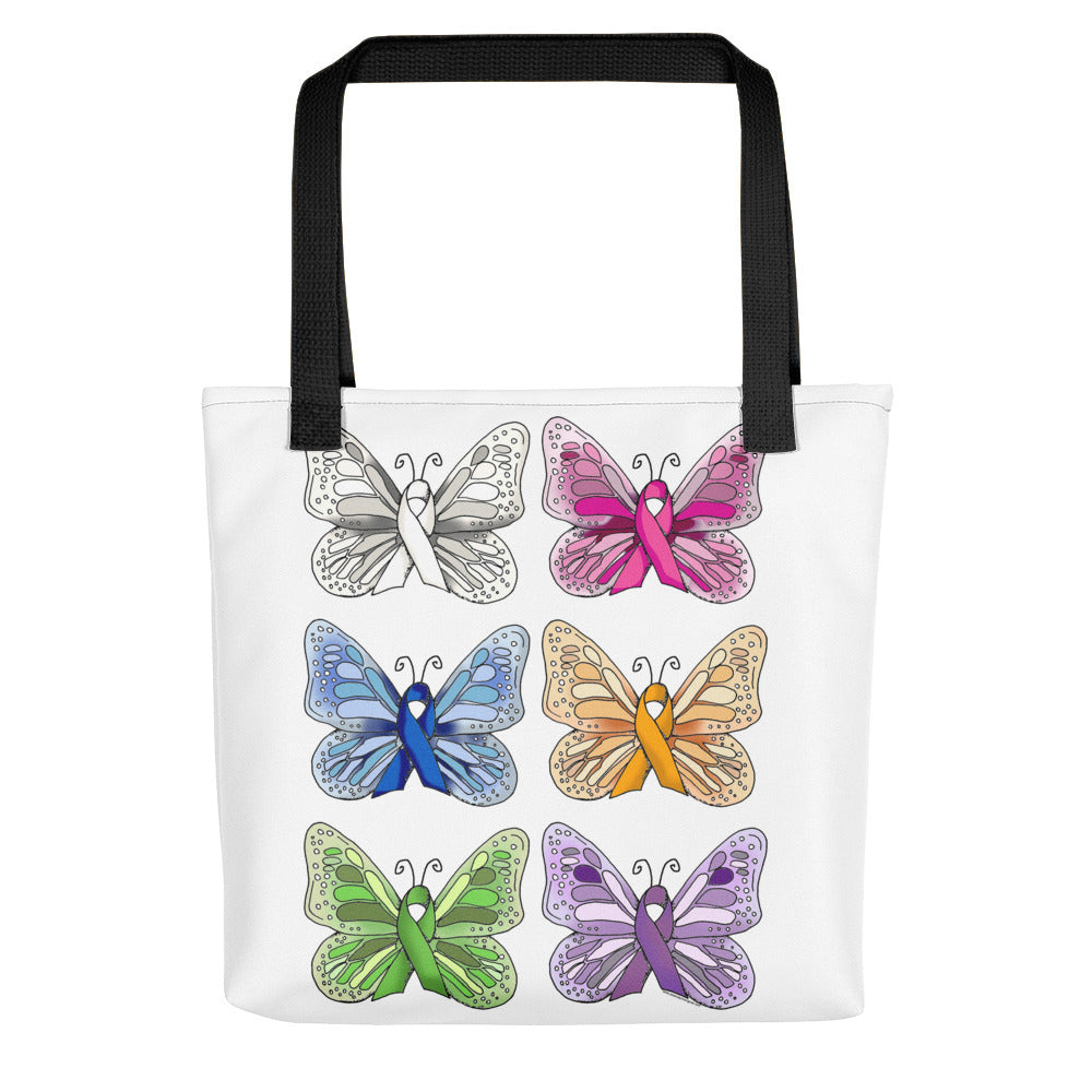 Believe in Hope Cancer Butterfly Tote bag