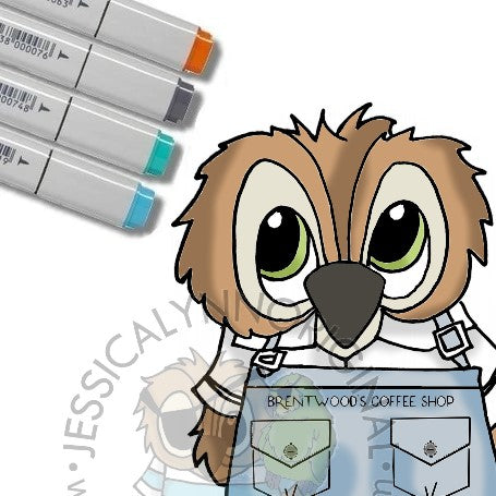 Instant Download - Fall/Winter 2020 Limited Edition Brentwood Owl Coffee Digital Stamp