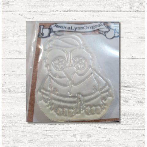 Clearance: Brentwood Owl Day at the Spa Cucumbers on the Eyes 2.5x2.5 Clear Photopolymer Stamp