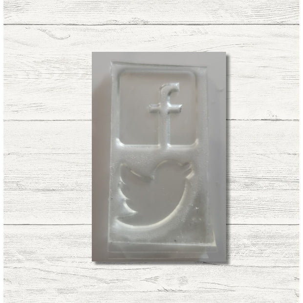 Clearance:  Social Media Facebook Twitter Small Business Clear Photopolymer Stamp Set