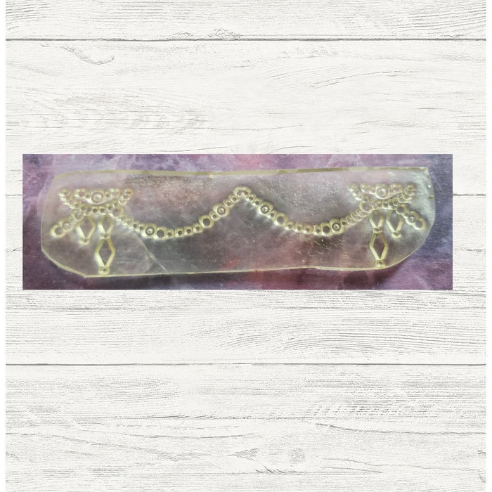 Clearance: Fun Beaded Crystal Border Banner 1x3.75 Clear Photopolymer Stamp