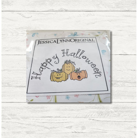 Clearance: Happy Halloween Trio of Pumpkins Costumes 2x2.5 Clear Photopolymer Stamp