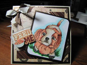 Cavalier King Charles Spaniel Dog 4x6 Clear Photopolymer Stamp Set
