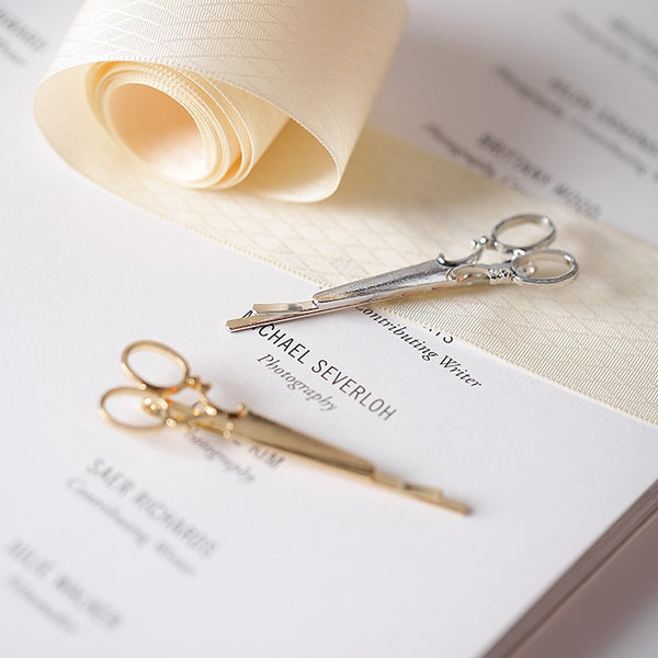 Gold or Silver Scissors Hairpin