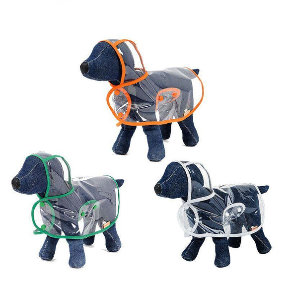 Pet Transparent Raincoat (S - XL)