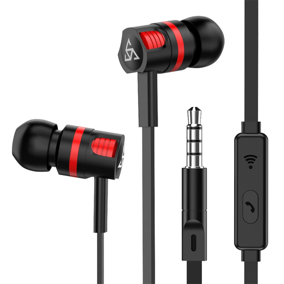 Noise Isolating In-ear Headphones (With Mic)
