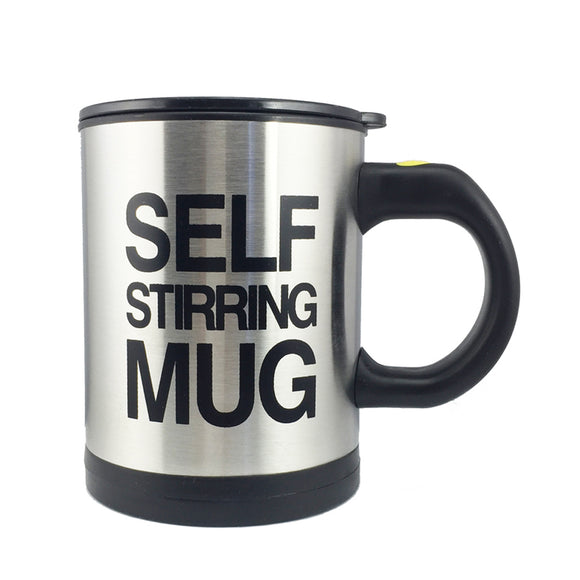 Self Stirring Stainless Steel Coffee Mug (400ml /13.5oz)