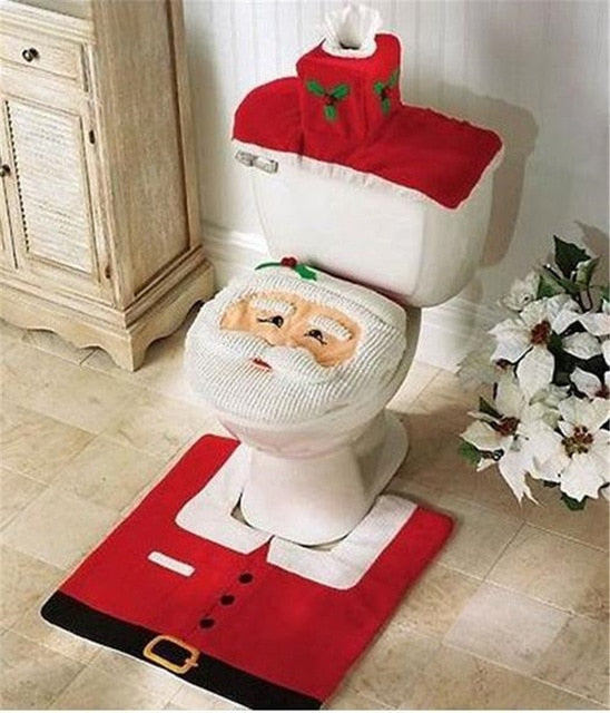 Fancy Christmas Santa Claus Toilet Seat